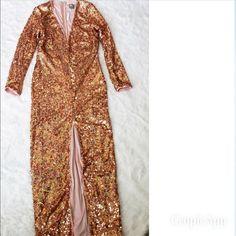 Maxi dress ASOS Gold maxi v neck // #sequins // #gorgeous ASOS Dresses Maxi