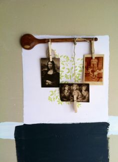 Wood spoon picture frame