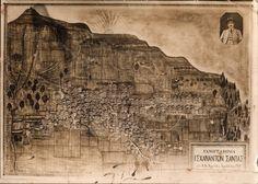 Santeos: Ηλί, Ηλί λαβάς σαλαχανί Black Sea, Mount Rushmore, Greece, Vintage World Maps, Mountains, Poster, Travel, Painting, Art