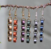 Paper Chain Quilling Bead Earrings #DIY #fun #easy