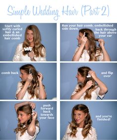 Sarah from Raving Fashionista shows you how to create a simple wedding hair style! (part 2)