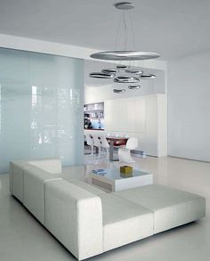 szklana ściana   10 Fabulous Pendant Lamps for Your Living Room - Decoist