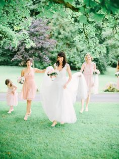 Hey shorty! How cute are these short bridesmaid dresses?