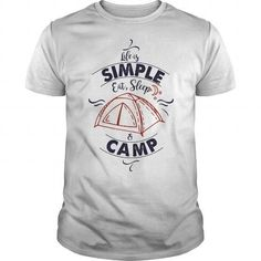 Cool #TeeForCamping Eat Sleep and Camp - Camping Awesome Shirt - (*_*)