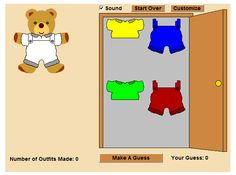Bobbie Bear: Bobbie Bear is planning a vacation and wants to know how many outfits can be made using different colored shirts and pants.