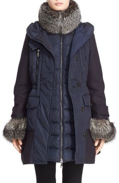Moncler 'Elestoria' Two-Piece Down Puffer Coat with Genuine Fox Fur Trim available at #Nordstrom