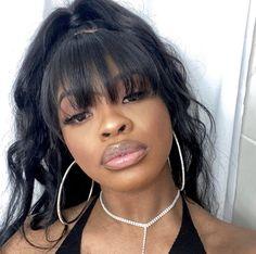 Hair Inspo, Hair Inspiration, Cute Weave Hairstyles, Big Lips, Full Lips, Bare Face, Kissable Lips, Black Girl Aesthetic, Natural Lips
