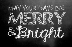 iNSPiRE | FREE Chalkboard Fonts Holiday Art Prints