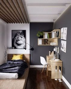 10 Centered Simple Ideas: Minimalist Bedroom Men Platform Beds minimalist home decoration life.Minimalist Bedroom Green Chairs minimalist home organization small spaces. Small Apartment Bedrooms, Small Apartments, Apartment Living, Living Rooms, Tiny Apartment Decorating, Men Apartment, White Apartment, Decorating Bedrooms, Minimalist Furniture
