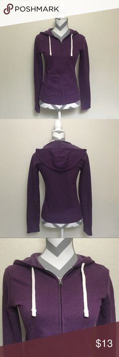 Mossimo Supply Co Heathered Purple Hoodie XS Mossimo Supply Co extra small hoodie. Measurements laid flat: with 16.5 in, length 22.5 in, sleeves 20 in. 60% cotton 40% polyester. Excellent used condition, no flaws. Mossimo Supply Co. Tops Sweatshirts & Hoodies