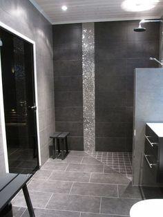 Portable Steam Sauna - We Answer All Your Questions! Grey Bathroom Tiles, Brown Bathroom, Bathroom Renos, Laundry In Bathroom, Bathroom Renovations, Bathroom Interior, Sauna Room, Condo Remodel, Bathroom Toilets