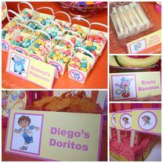 Gabriels Good Tidings Dora Birthday Party Menu