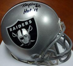 Ray Guy Autographed Oakland Raiders Mini Helmet RG Holo
