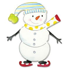 Sizzix Bigz Snowman/ Skates by Dena Designs Die