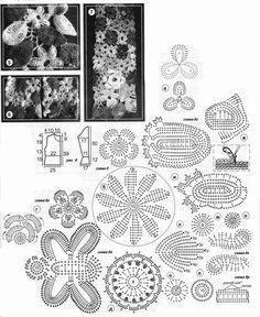russian lace crochet - motif patterns