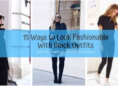 15 Ways to Look Fashionable With Black Outfits Cute Skirt Outfits, Casual Winter Outfits, Cool Outfits, All Black Outfit, Black Outfits, Trajes Business Casual, Gym Mirrors, Looking Dapper, Cold Weather Fashion