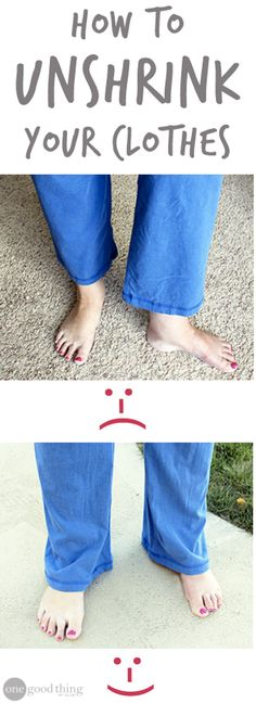 Don't stress about shrinking clothes! With this method, you can stretch things back out in no time!