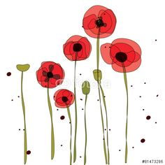 free vector poppy - Google Search