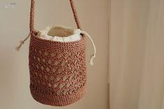 Crochet Wallet, Crochet Tote, Crochet Slippers, Crochet Stitches, Knit Crochet, Tapestry Crochet Patterns, Bag Pattern Free, Macrame Bag, Diy Purse