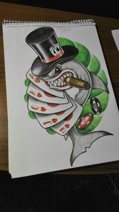 Shark poker sketch