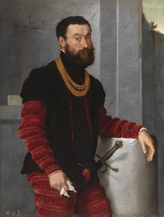 Portrait Of A Soldier by Giovanni Battista Moroni (born c. Albino, Republic of Venice [Italy]—died February Bergamo), Italian Renaissance painter notable for his sober and dignified portraits. Mode Renaissance, Renaissance Fashion, Italian Renaissance Art, Renaissance Portraits, Renaissance Paintings, European History, Art History, Arte Fashion, Black History Facts