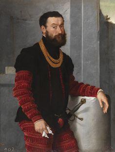 Moroni, Giovanni Battista, Un militar, Hacia 1560; Óleo sobre lienzo, 119 cm x 91 cm, escuela italiana. Museo del Prado.