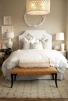 layered white - guest room?