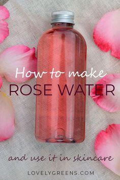 Instructions on how to make rose water using fresh rose petals. Use directly on your skin as a natural toner or blend it with oils to create creams and lotions #lovelygreens #roserecipe #roseskincare #diyskincare #rosewater #diybeauty #CucumberFaceMask Beauty Care, Diy Beauty, Beauty Skin, Beauty Hacks, Beauty Ideas, Face Beauty, Homemade Beauty, Beauty Tips For Face, Natural Beauty Tips
