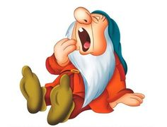 Sleepy -Snow White and the Seven Dwarfs Walt Disney movie animation enchanting fairytale.