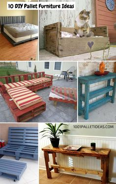 10 DIY #Pallet #Furniture Ideas - 1001 Pallet Ideas - All these projects are of 100% reclaimed Pallets Wood.