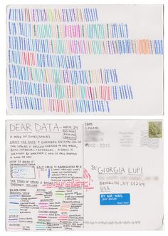 Dear-Data (www.dear-data.com) Week 24- A week of doors! Postcard by Stefanie