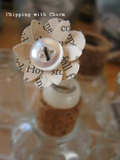 """Chipping with Charm: """"Bitty"""" Flowers...how to...www.chippingwithcharm.blogspot.com"""