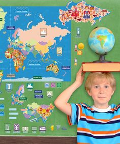 Loving this Peel, Play & Learn World Map Wall Play Set on #zulily! #zulilyfinds