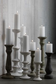 -Limed Candle Stick po.st/bz1ruP the more I look at these the more I need them