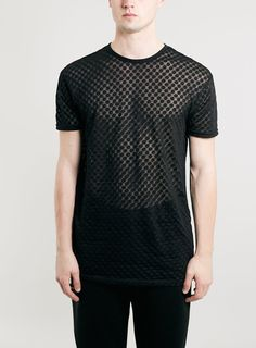 Spotty Sheer Long Line Fit T-shirt