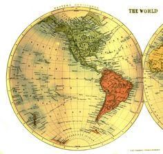 Geopolitical-Map-World-Half-Western-Hemisphere