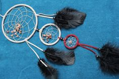 ANGEBOT - 30% - Eleganter Traumfänger mit Rhodonit in grau-weinrot von TRAUMnetz.com     ** DReamcatcher u.v.m.  ** auf DaWanda.com