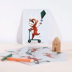 Petite carte Les Adorables Costumés le Cerf (10,5 x 14,8 cm)
