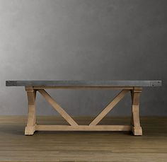I want this table!  Even 4 boys can't tear up a concrete table!
