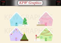 Christmas Houses Clip-art in a PNG format. Personal & Small Commercial use House Clipart, Christmas Home, Clip Art, Invitations, Holiday Decor, Handmade Gifts, Commercial, Houses, Etsy