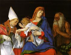 Madonna with a Bishop and St. Onuphrius by Lorenzo Lotto, Galleria Borghese, Rome.
