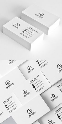 Simple minimal business card templates perfect for personal identity or minimalist design business. The clean minimal business card designs crafted with high Business Card Psd, Minimalist Business Cards, Simple Business Cards, Corporate Business, Corporate Design, Business Design, Creative Business, Branding Design, Identity Branding