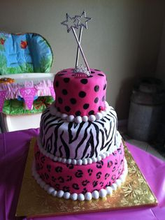 animal print princess cake