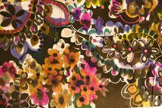 Vintage fabric print