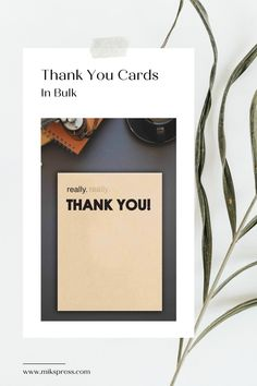 Send a big thank you with our 'Thank You' cards. Perfect for special occasions such as Weddings or great to have on hand to tell someone a quick 'Thank You'. Check out our shop now for more! Funny Thank You Cards, Types Of Printing, Some Cards, Letterpress Printing, Card Stock, Birthday Cards, Envelope, Greeting Cards, Weddings