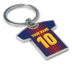 Football Shirts, Football Kit and Football Strip - UKSoccershop.com Personalised Barcelona Key Ring [BARCKEYRING] - Find the perfect gift with our Barcelona football shirt key ring. High quality keyring in your club colours will make the perfect present for Christmas, birthdays or any special occasion. Extremely high quality and one of our best selling Barcelona gifts.Personalise this keyring with any name and number combination.