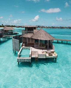 14 Gorgeous Overwater Bungalow Resorts That Will Make Your Heart Skip a Beat - Add to Bucketlist , Vacation Deals Luxury Boat, Luxury Travel, Vacation Deals, Dream Vacations, Maldives Water Villa, Bungalow Resorts, Places To Travel, Places To Go, Visit Maldives