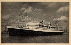 Ak Dampfer SS Nieuw Amsterdam, Holland America Line HAL - 1089953