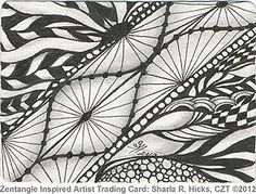 Zentangle Inspired Artist Trading Card by Sharla R. Hicks CZT, via Flickr. www.softexpressions.com/1/Class.php