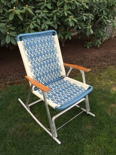 Vintage Rocking Lawn Chair Aluminum Chair With By GirlGoesVintage